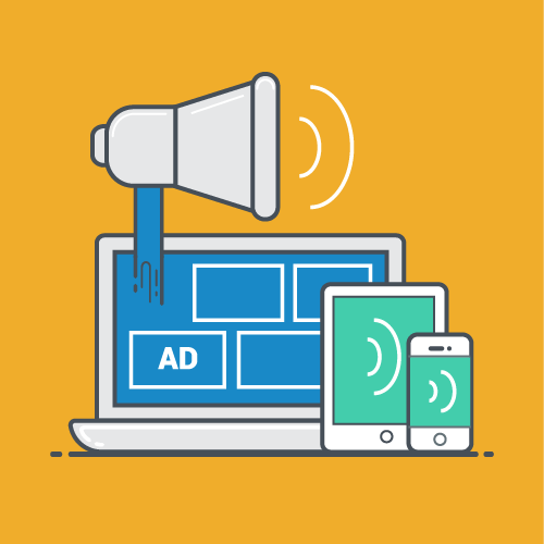 Display ads work by using a pushing effect
