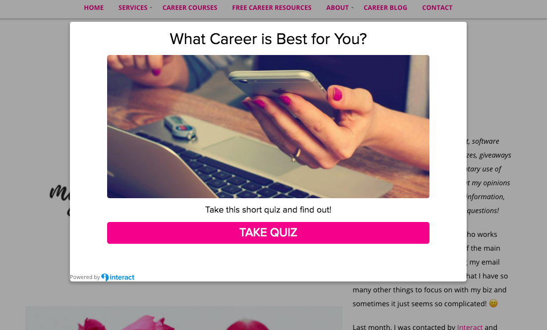 Promote your quiz as a pop-up on your site!