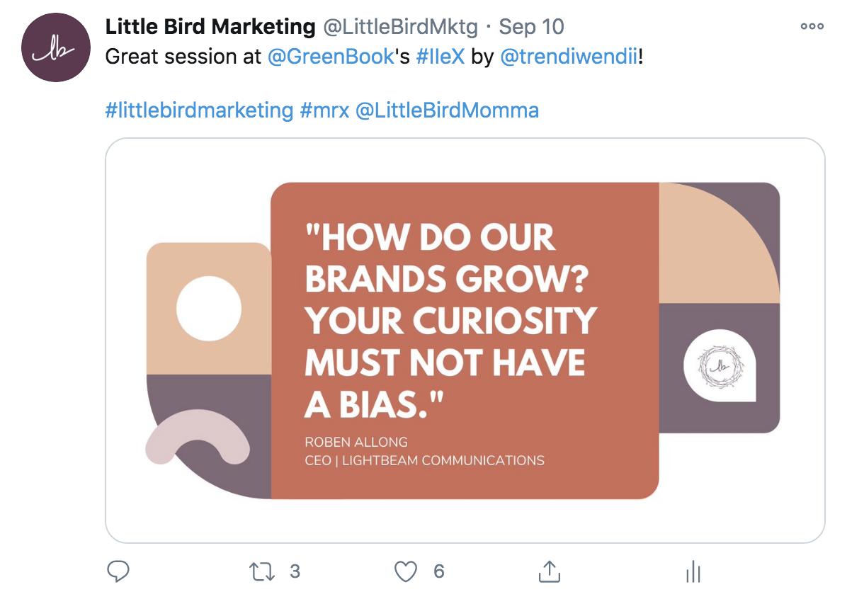 Little Bird post about IIeX