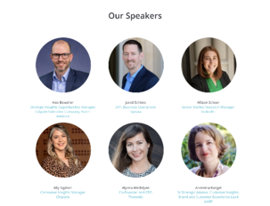 list of speakers from a GreenBook event