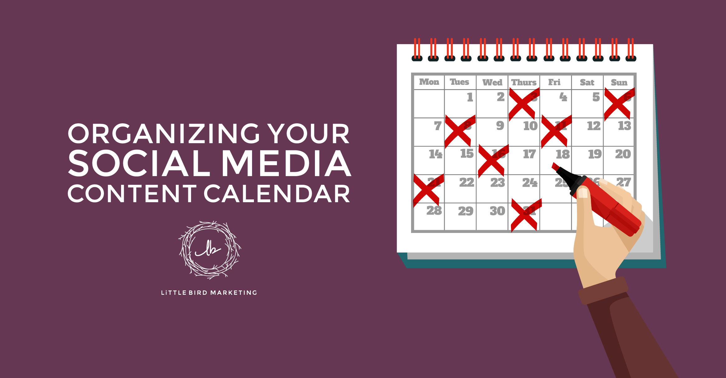 Check, check, check... Now's a great time to tidy up your social media content calendar!