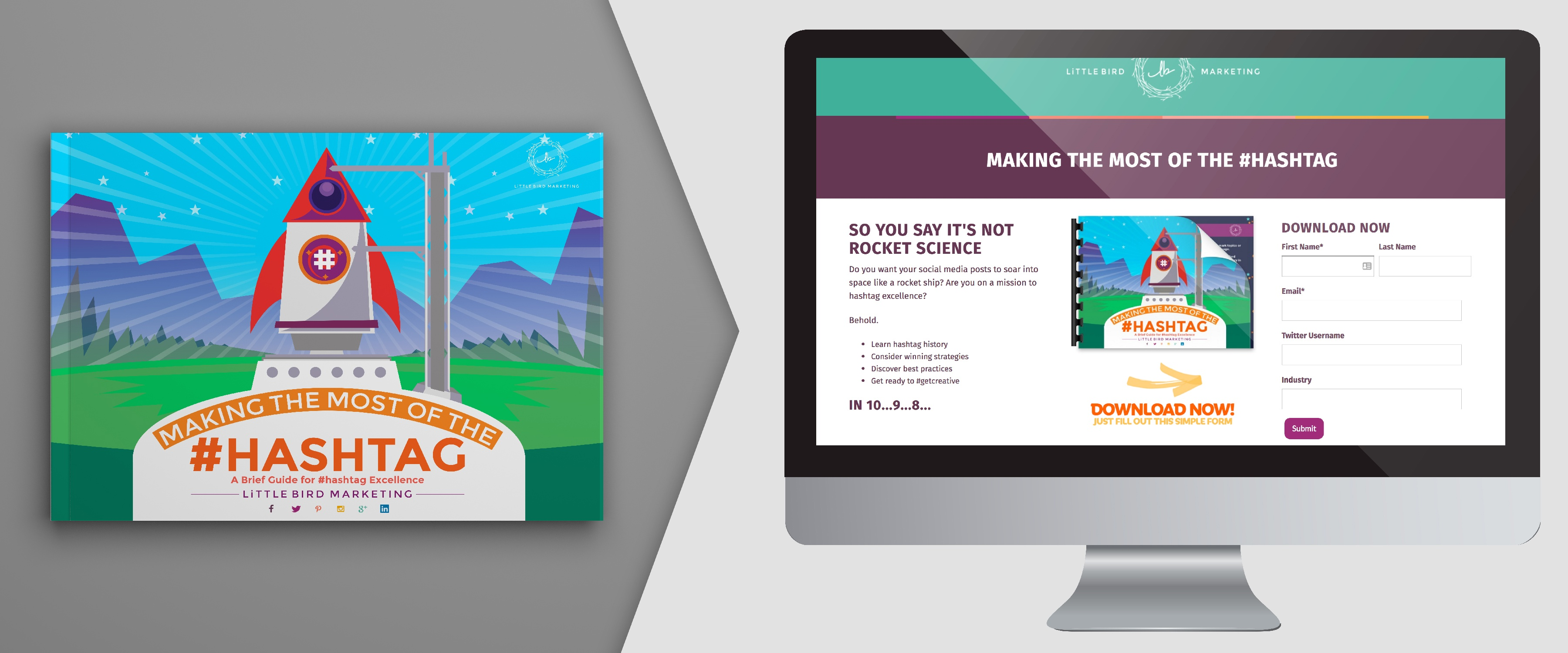 Working on a theme? Keep your landing pages in the cool kids clique by keeping continuity across the campaign!