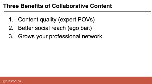 Benefits of Collaborative Content