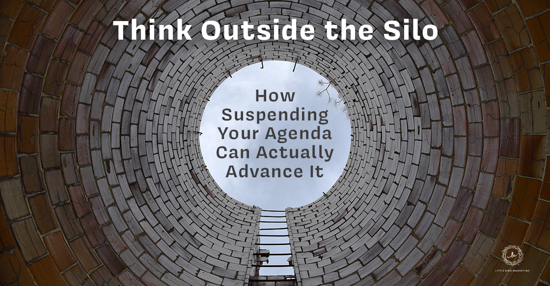Think Outside the Silo - How Suspending Your Agenda Can Actually Advance It